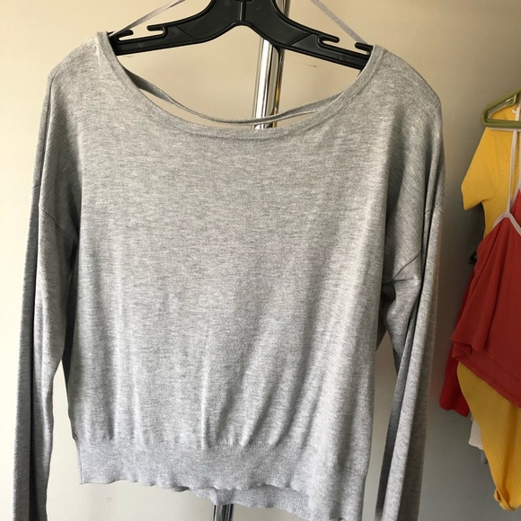 🦋3 for $25🦋 Grey open back cotton crew neck